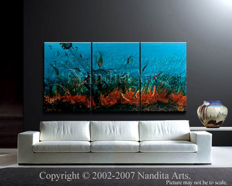 Abstract Art The Symphony Lives On Modern Art by Nandita Albright
