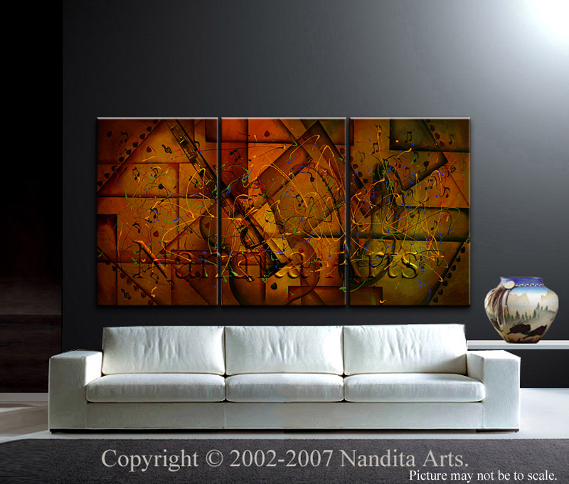 Vivid Modern Art The Last Sound Echoes by Nandita Albright