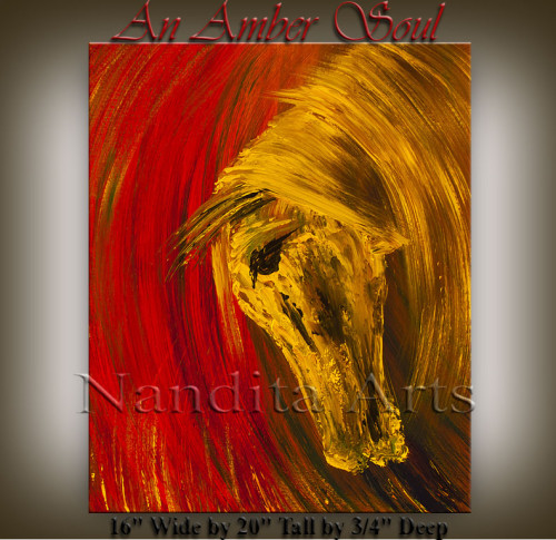 Horse-Art-An-Amber-Soul by Nandita Albright
