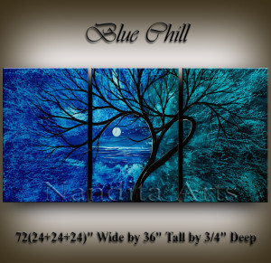 Landscape art Blue chill