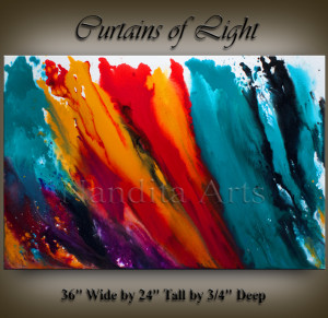 Modern-Art-Curtains-of-Light wall art by Nandita Albright