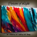 Modern-Art-Curtains-of-Light abstract painting by Nandita Albright