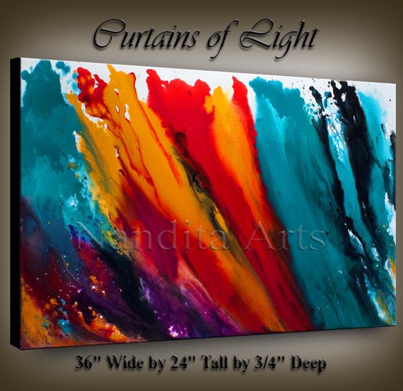 Modern-Art-Curtains-of-Light wall art by Nandita Albright
