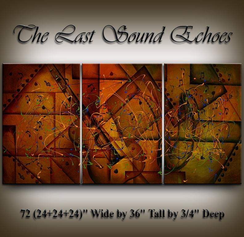 Vivid Modern Art The Last Sound Echoes by Nandita Albright