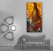 Modern Guitar Art, Painting by Nandita Albright