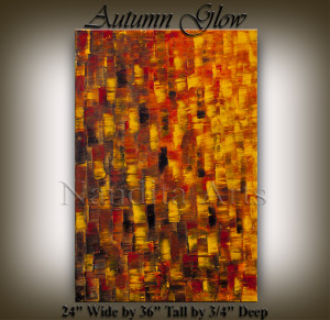 Texture Art Autumn Glow
