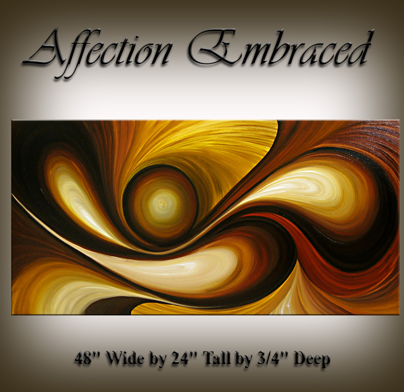 Modern Oil Painting Affection Embraced Gold Oil Paintings