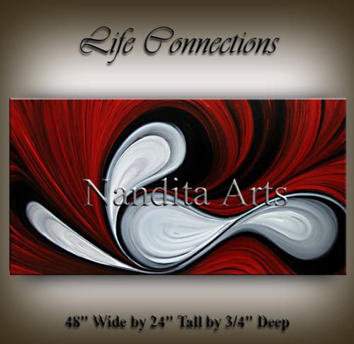Red and Black Original Painting Interstellar Birth Arts
