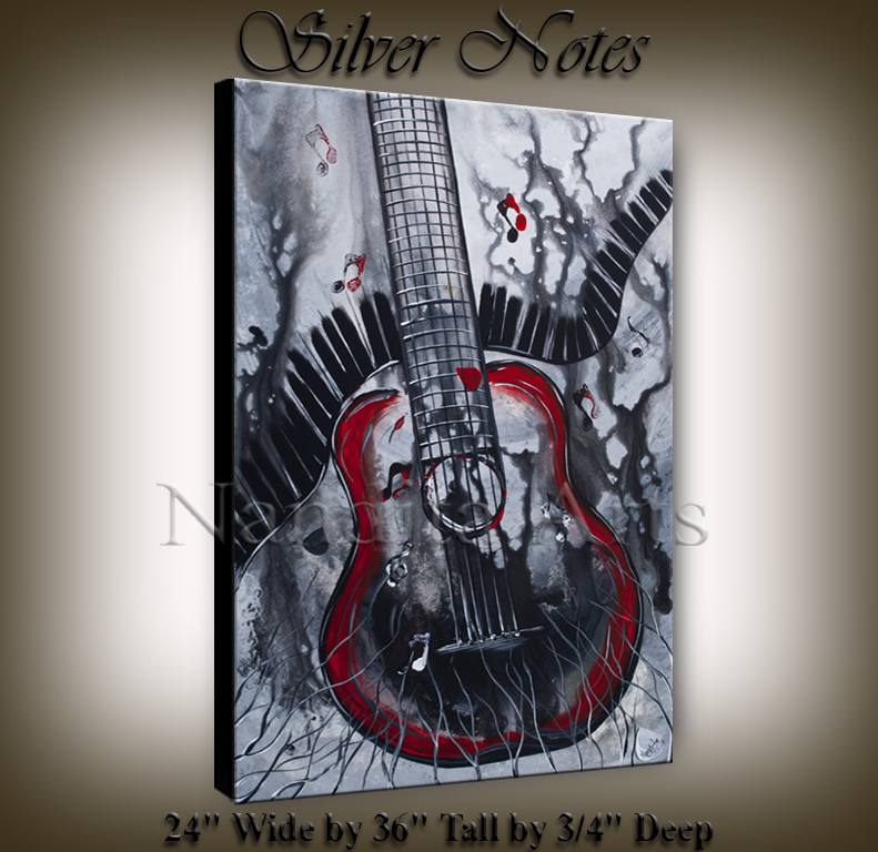 guitar art for sale, abstract music art, modern guitar art for sale