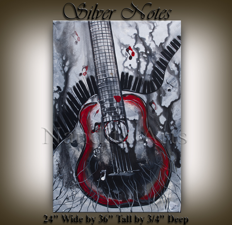 modern guitar art, music art for sale, contemporary guitar art