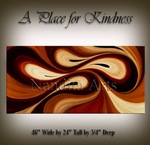 Golden large painting A Place for Kindness Paintings