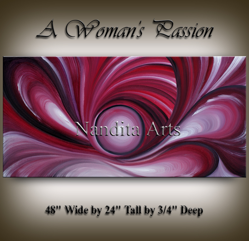 Abstract Oil Painting A Woman's Passion Abstract Oil paintings