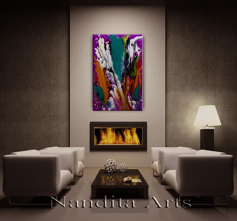 Modern Painting Mystical Waterfall Modern Paintings