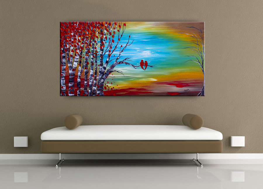 Landscape-birch-tree-sofa-displey-paintings