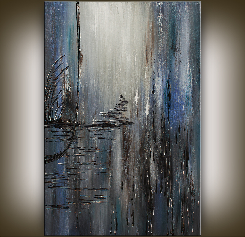 Large abstract painting abstract art by Nandita Albright