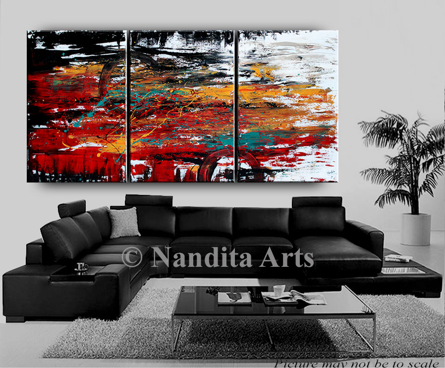 Abstract Red Painting