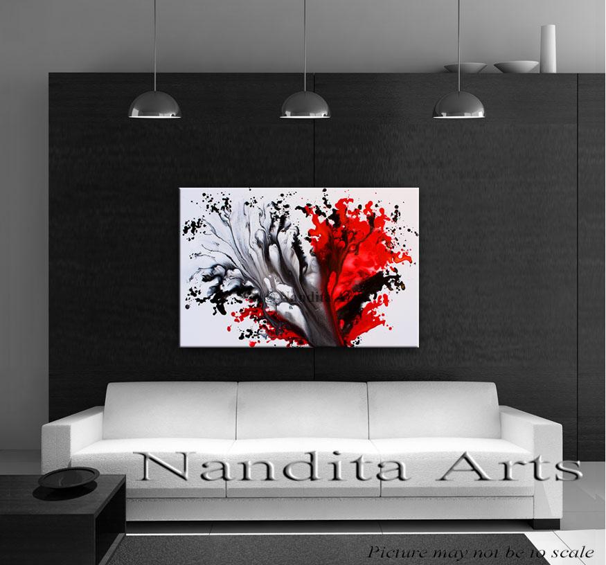 Red Original art Passion Wave