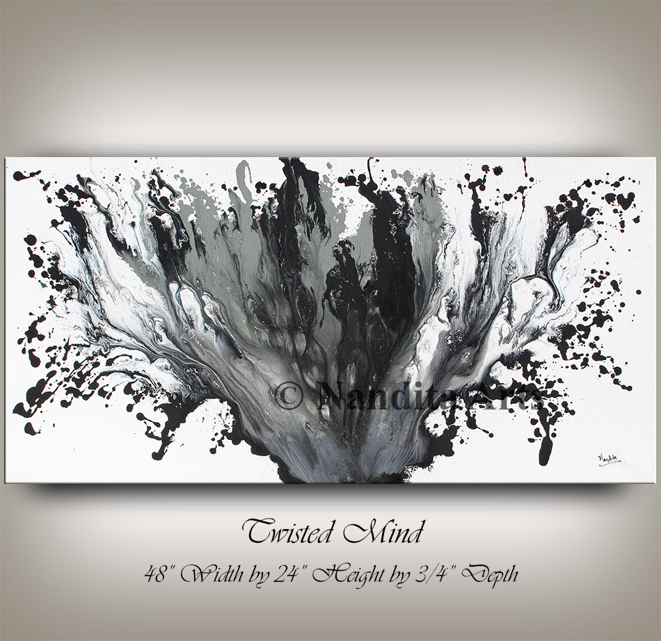 Black Painting Artwork Twisted Mind