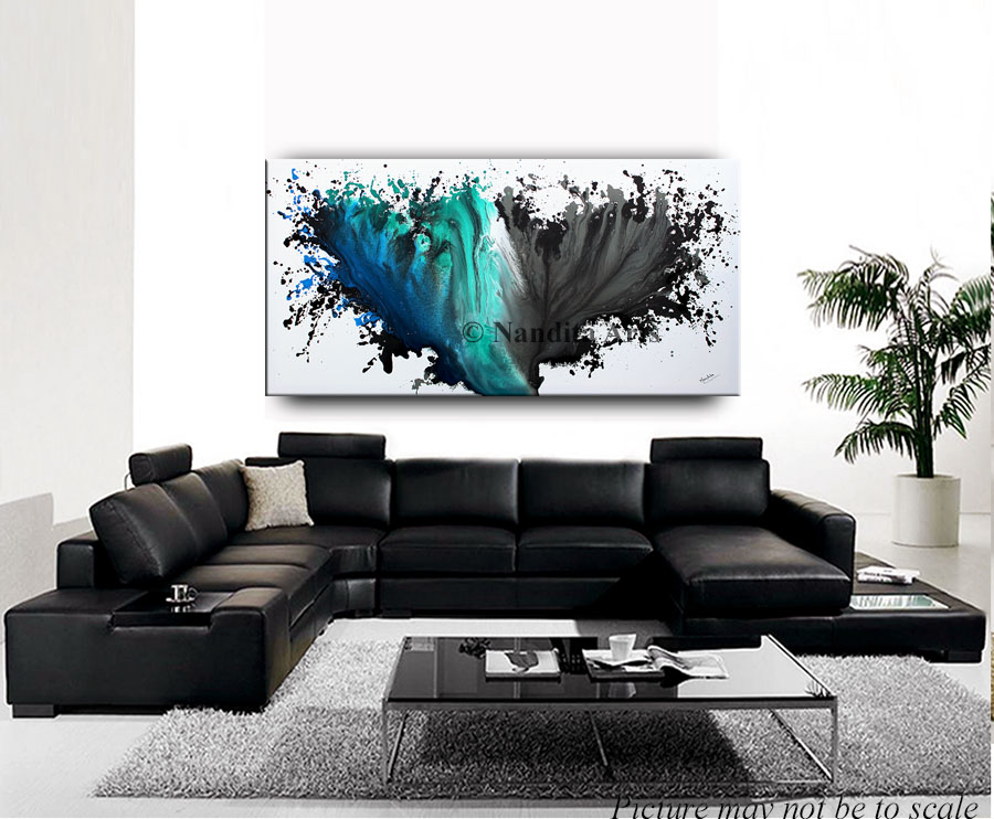 Blue and Gray painting Wings Spread