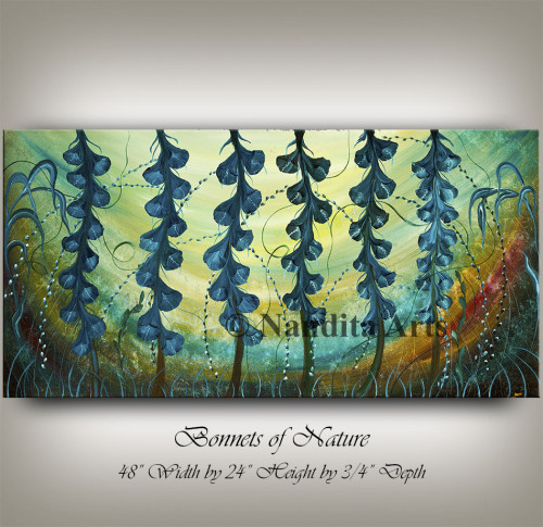 Texas flower Bonnets of Nature painting