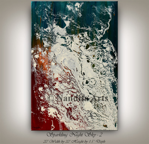 Red,Green,White,Mixed Media,Modern art,Huge