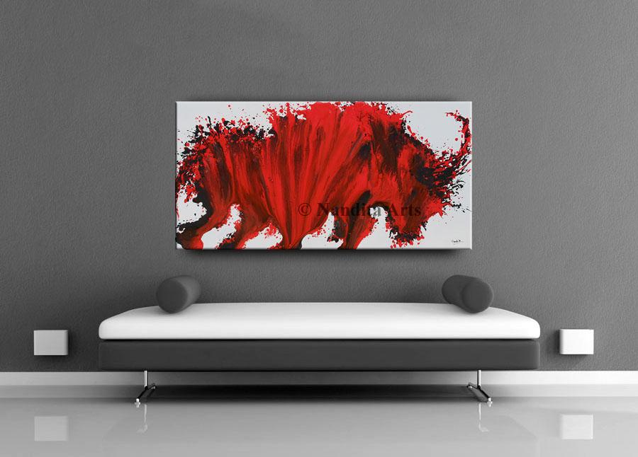 Horse artwork , Painting Ferocious Heart