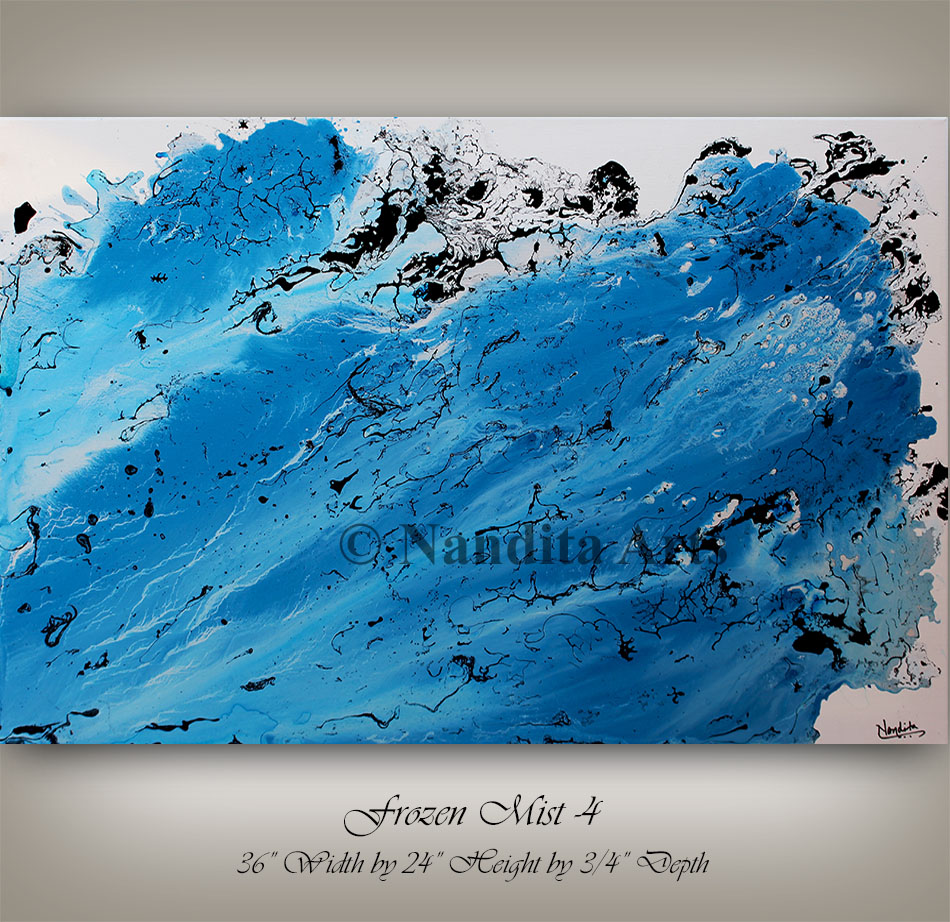 Mixed Media, blue, turquoise, original painting