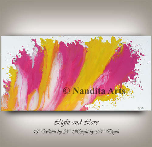 Abstract Pink and Yellow Modern PaInting