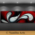 Red Oil Painting, Red Painting, Red art, Red Art Gallery, Original Artwork