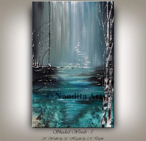 Landscape Art , Blue painting