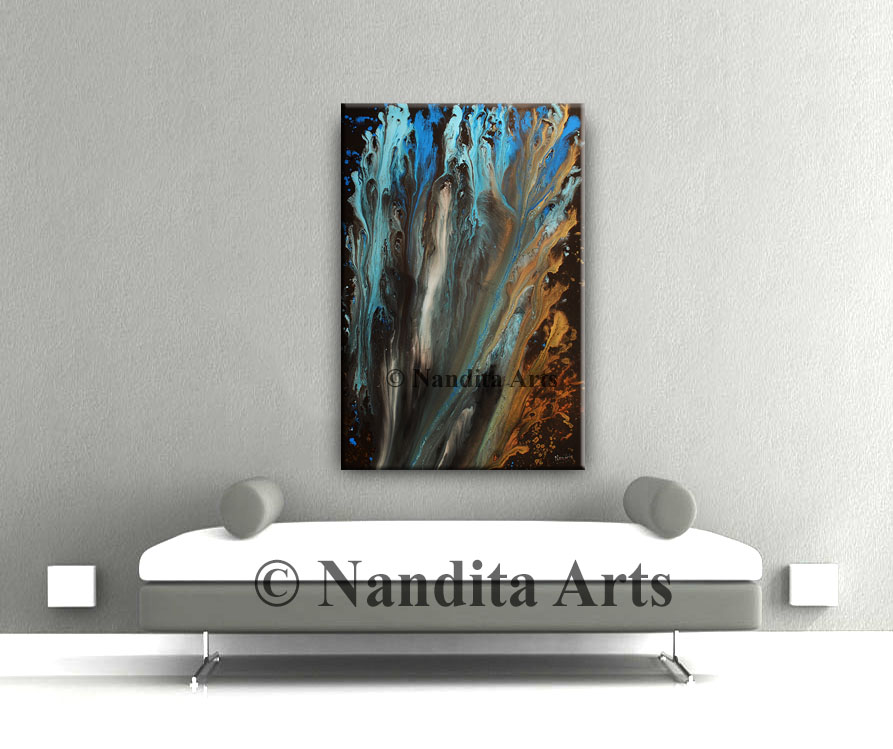 Modern, abstract wall art