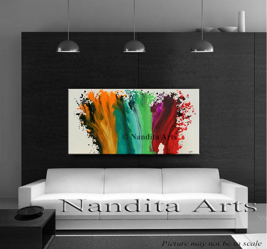 Galaxy Shift Abstract Art Original Painting by nandita