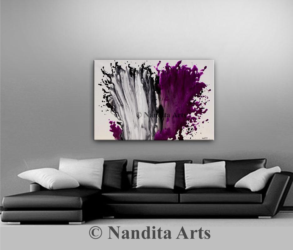 Artwork,Purple Wall Art, Fuchsia