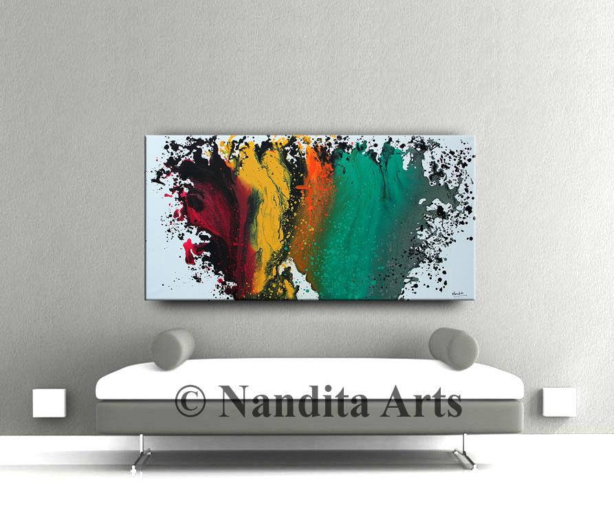 Large Artwork Modern Painting on Canvas