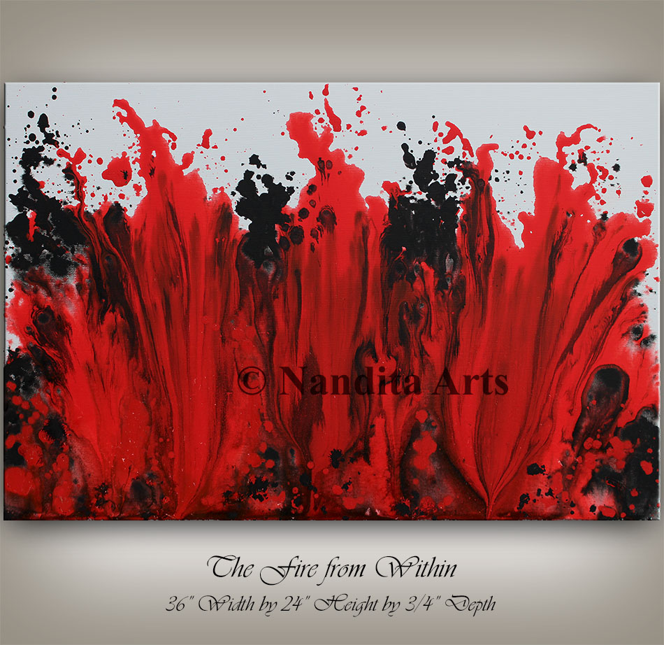 Elegant Red Painting, Modern Art Gallery