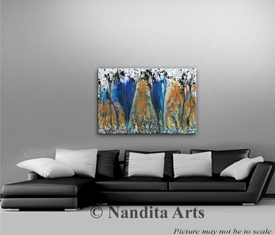 Blue Modern Art, Original Ocean Paintings