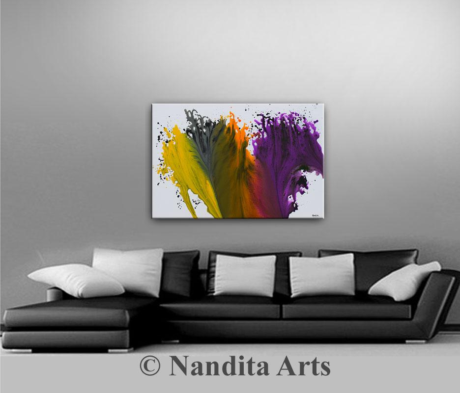 Purple Wall Art Original Painting