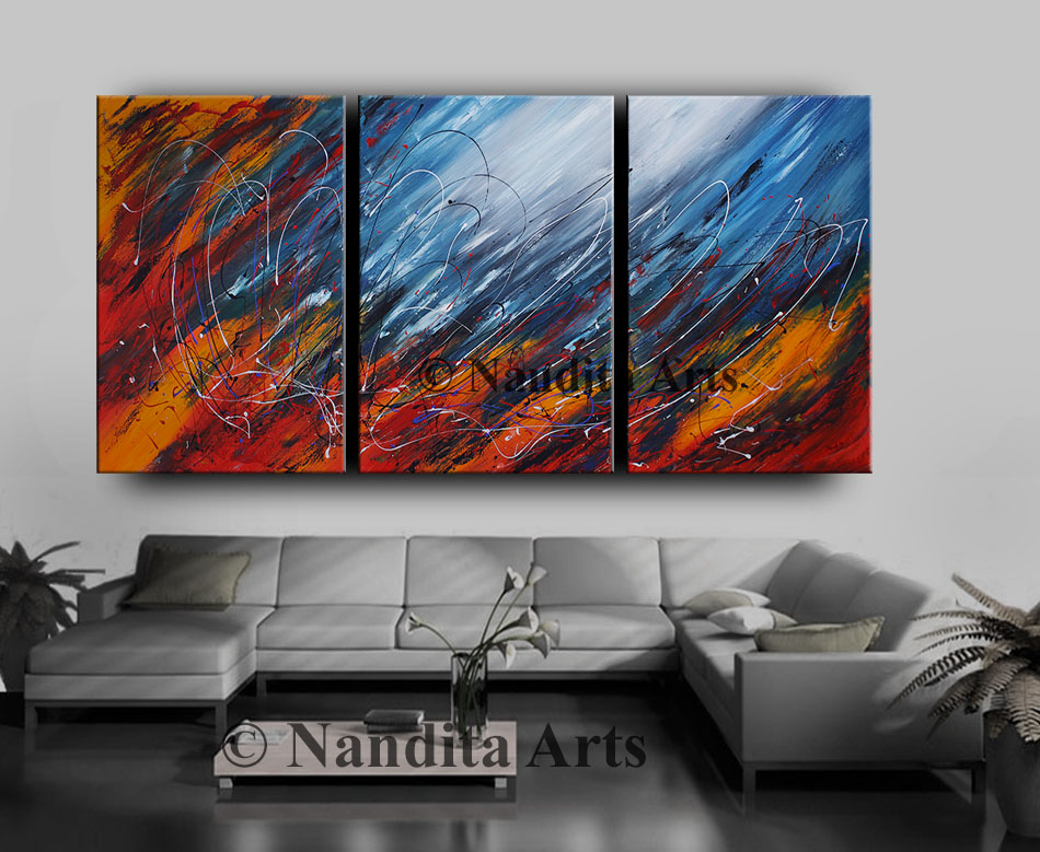 Abstract Painting huge artwork