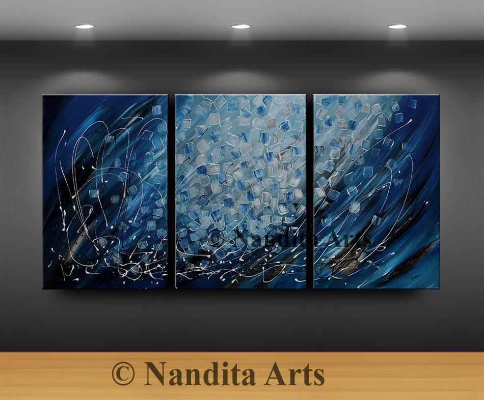 Large Blue Artwork, Large Painting