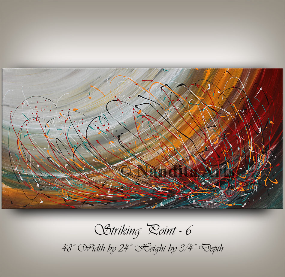 Large abstract painting, abstract art, string painting by Nandita Albright