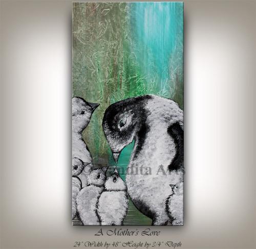 Animal Art, Animal painting, Modern Penguin Art Painting