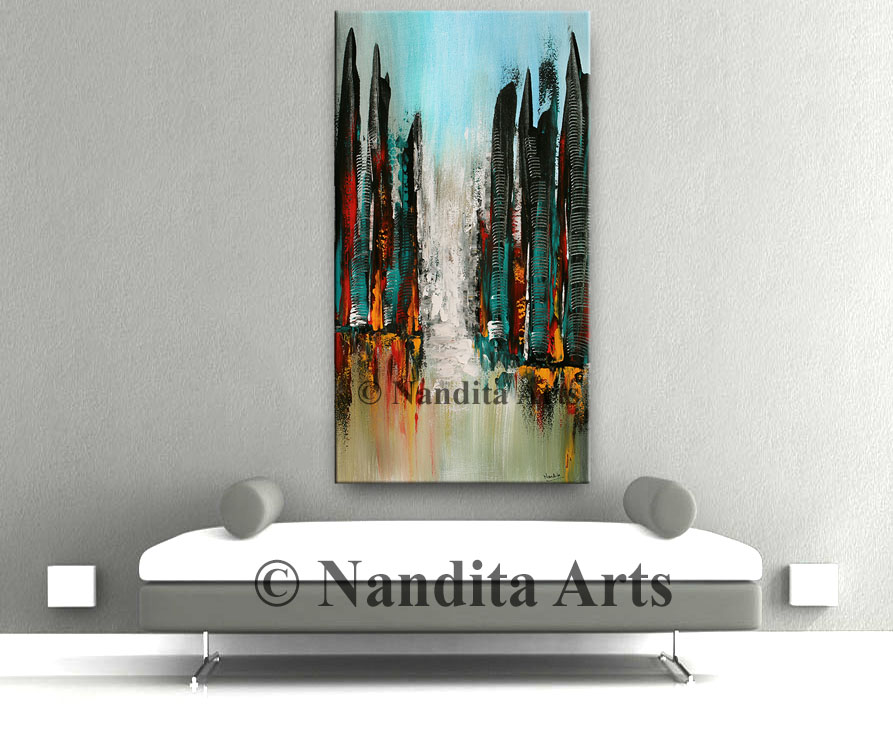 Cityscape Art, City Scape painting, Large cityscape paintings by Nandita Albright