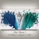 Blue Art, Turquoise and White Artwork by Nandita Albright