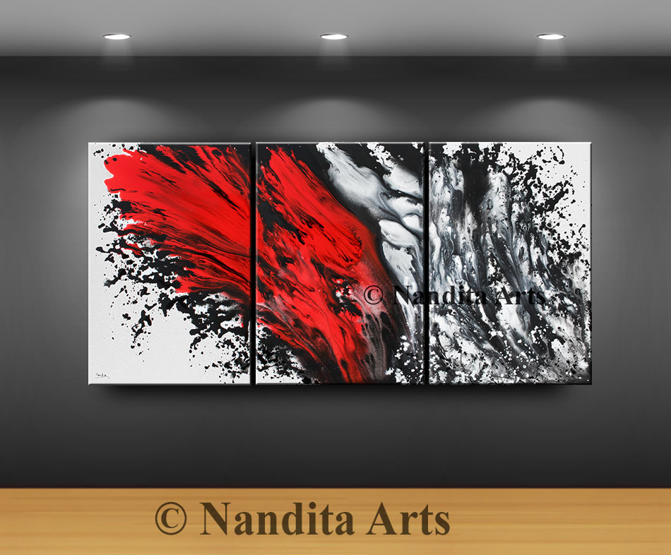 Red Christmas Decorations Wall Art