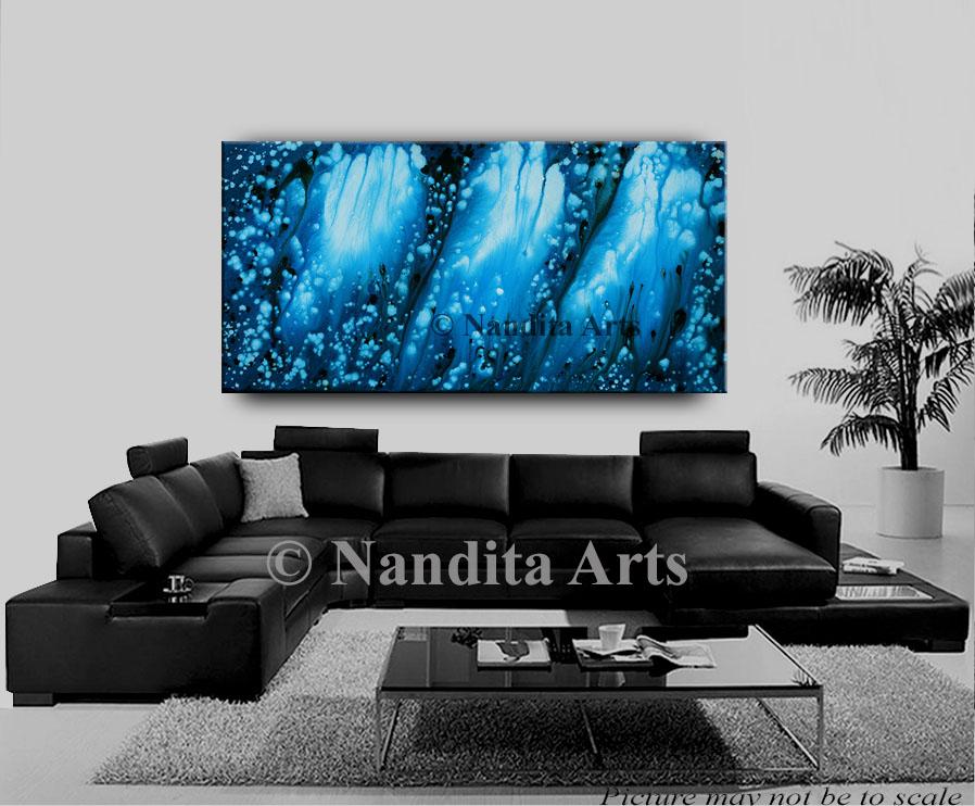Art, Blue, Blue Painting, Wall Art