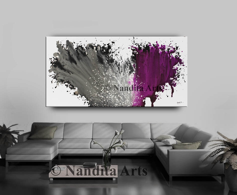 Gray and Purple Artwork by Nandita Albright