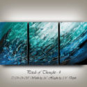 Turquoise wall art, abstract painting