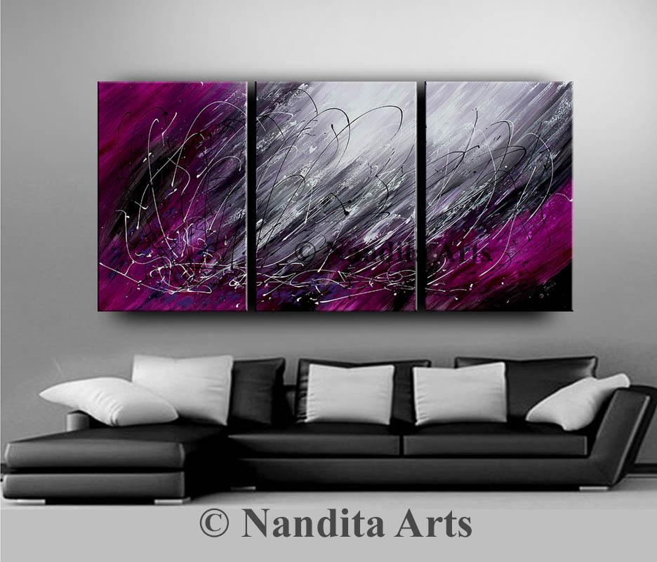 Purple, Fuchsia, Painting, Art