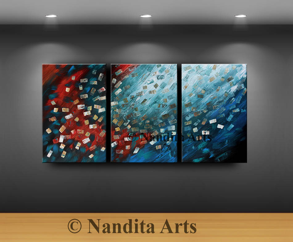 Blue Painting, Red Painting, Turquoise