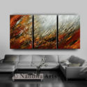 Abstract wall art, Red, Large Painting
